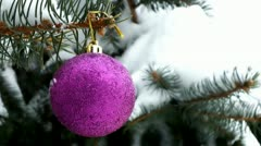 New Year decorations - stock footage