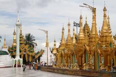 Shwe dagon pagoda Stock Photos