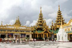 Temples near shwe dagon pagoda Stock Photos