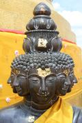 bronze buddha - stock photo