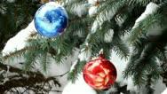 Ornaments on Christmas tree Stock Footage