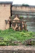 Old brick stupa Stock Photos