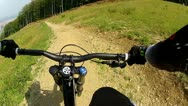 Downhill Mountain Bike Handlebars View 5 Stock Footage