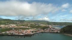 seaside city time lapse - Azores Island, Faial, Horta - stock footage