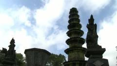 Bali temple time lapse Stock Footage