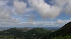 Clouds tropical time lapse - Nuu Pali lookout, Hawaii Stock Footage