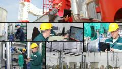 Power and Heating Plant multiscreen Stock Footage