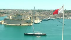 Malta Harbour - stock footage