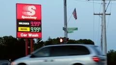 Speedway digital price display error Stock Footage
