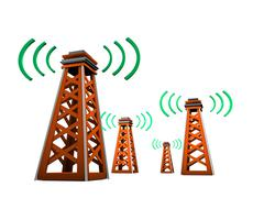 signal tower - stock illustration