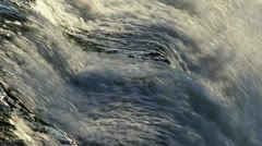 Rushing Water Close Up Stock Footage