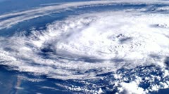 Hurricane. Satellite view - stock footage