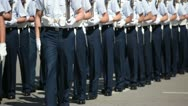 Stock Video Footage of Air Force Cadets in a Parade
