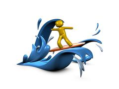 surfing - stock illustration