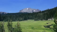 Lassen 01 HDR Kings Creek Meadows Stock Footage