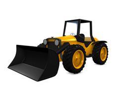 tractor - stock illustration