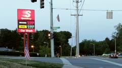 Gas sign price error at Speedway Stock Footage