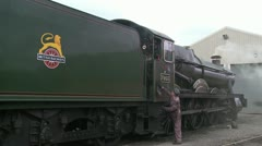 British Railways Engine Foremarke Hall. HD - stock footage