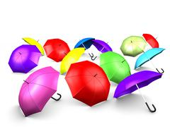 umbrellas - stock illustration