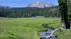 Lassen 02 HDR Kings Creek Meadows - stock footage