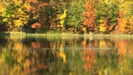 Stock Video Footage of Fall Lake