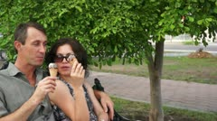 Sharing Time Together in Park Stock Footage