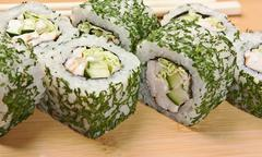 Stock Photo of traditional asian food sushi