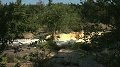 Waterfall through Trees Stock Footage