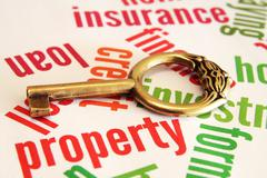 property and key concept - stock photo