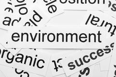 Environment word cloud Stock Photos