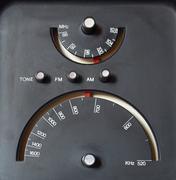 old am - fm radio tuner - stock photo