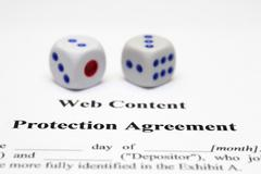 protection agreement - stock photo