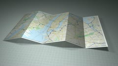 New York City Map with a location pin on it. - stock footage