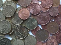 Stock Photo of euro coins