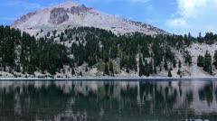 Lassen 13 Timelapse x10 Lake Helen - stock footage