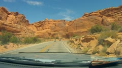Arches National Monument road scenes driver POV - 17 Stock Footage