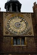 astrological clock, made for henry VIII in 1540 - stock photo