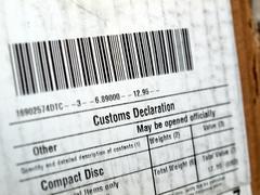 customs declaration - stock photo