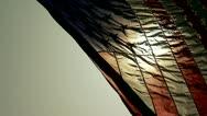 Vertical American Flag backlit w:sun Stock Footage