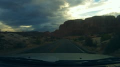 Arches National Monument road scenes driver POV - 4 Stock Footage
