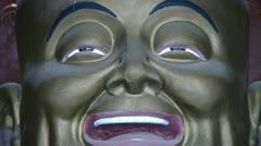 Smiling pregnant Maitreya Buddha. Stock Footage