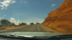Arches National Monument road scenes driver POV in time lapse - 5 Stock Footage
