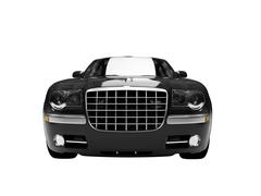 Stock Illustration of isolated black car front view 03