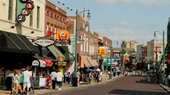 Memphis Beale Tourists - stock footage