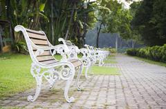 Stock Photo of bench witn nobody