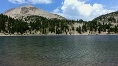 Lassen 26 Lake Helen Stock Footage
