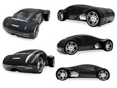isolated collection of supreme concept car - stock illustration