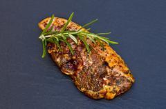 Marinated lamb chop Stock Photos