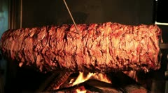 Delicious Doner Kebab Stock Footage
