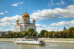 temple of christ the savior in moscow - stock photo